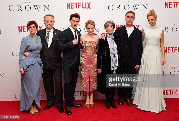 Victoria Hamilton, Jared Harris, Matt Smith, Claire Foy, Dame Eileen Atkins, Greg Wise and Vanessa Kirby attend the World Premiere of new Netflix...