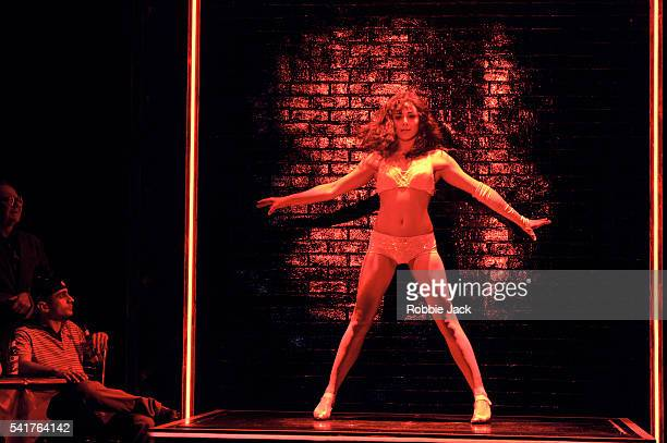Victoria HamiltonBarritt as Alex Owens with artists of the company in the production Flashdance' choreographed by Arlene Phillips and directed by...