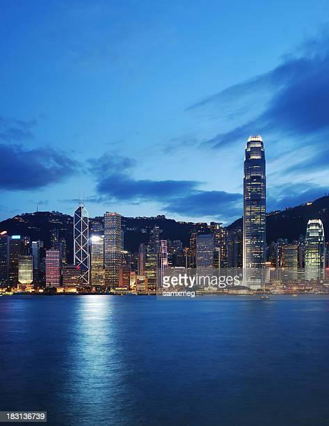 Victoria Harbor Hong Kong at Night