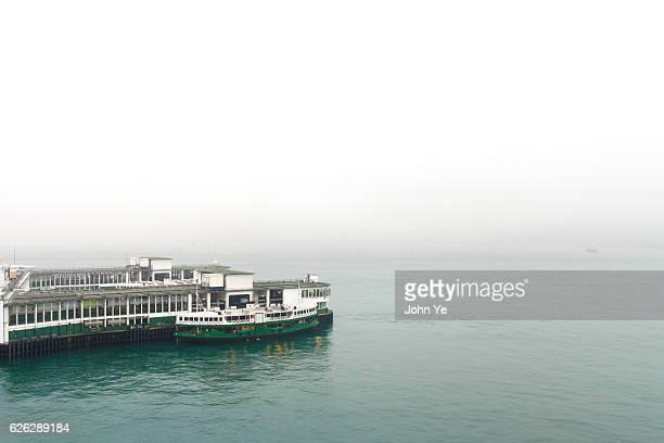 Victoria Harbor in fog