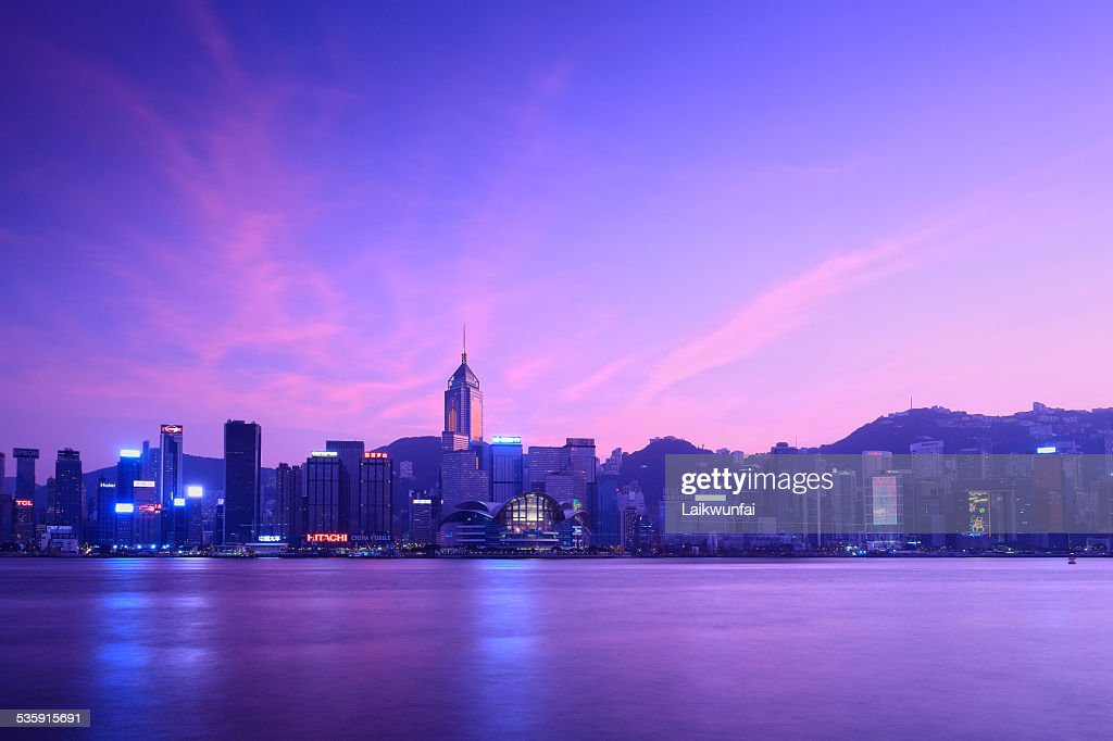 Victoria Harbor of Hong Kong : Stock Photo
