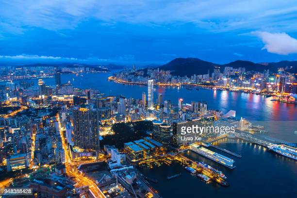 victoria harbor - liyao xie stock pictures, royalty-free photos & images