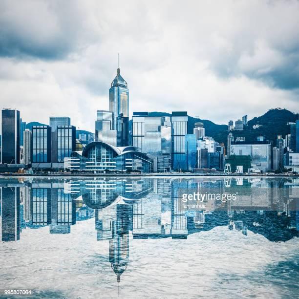 victoria harbor,hong kong - wanchai stock photos and pictures
