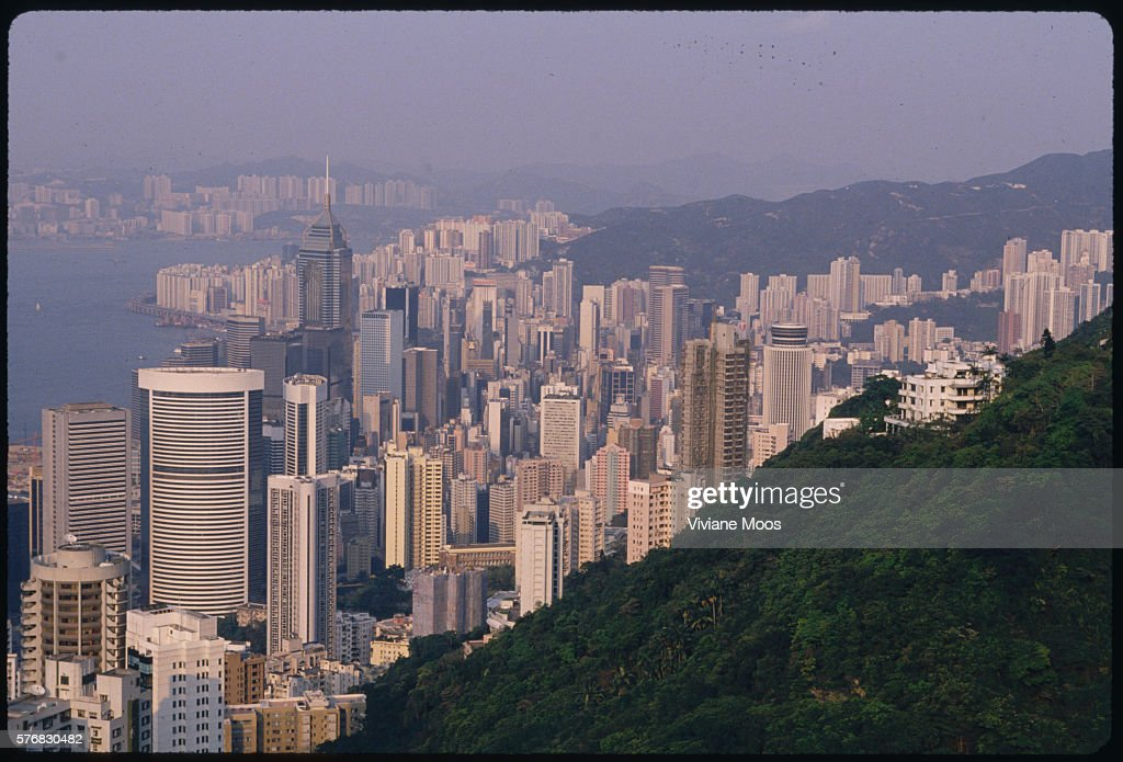 Victoria Harbour and Hong Kong Skyscrapers : News Photo