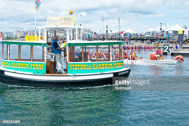 victoria harbour ferry at dragon boat festival - victoria canada stock photos and pictures