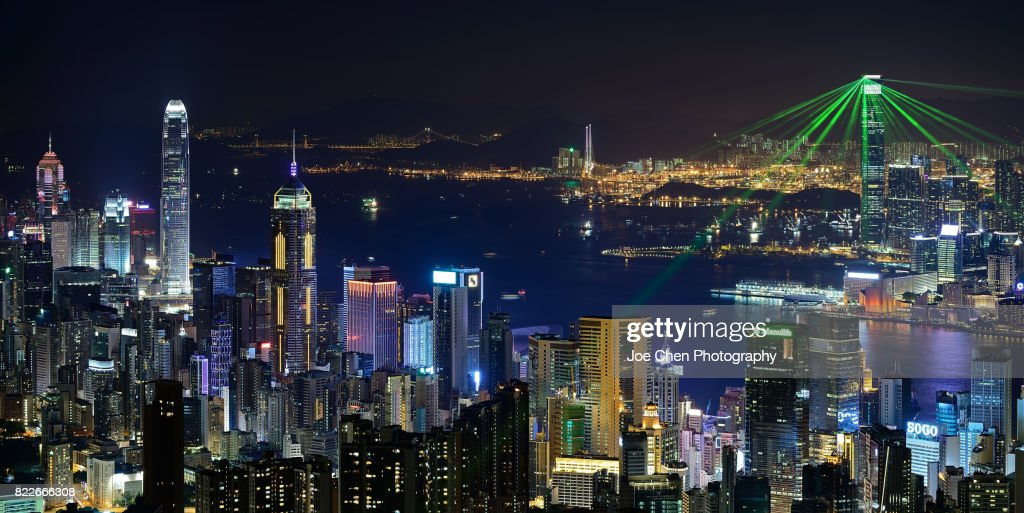 Victoria Harbour, Hong Kong : Stock Photo