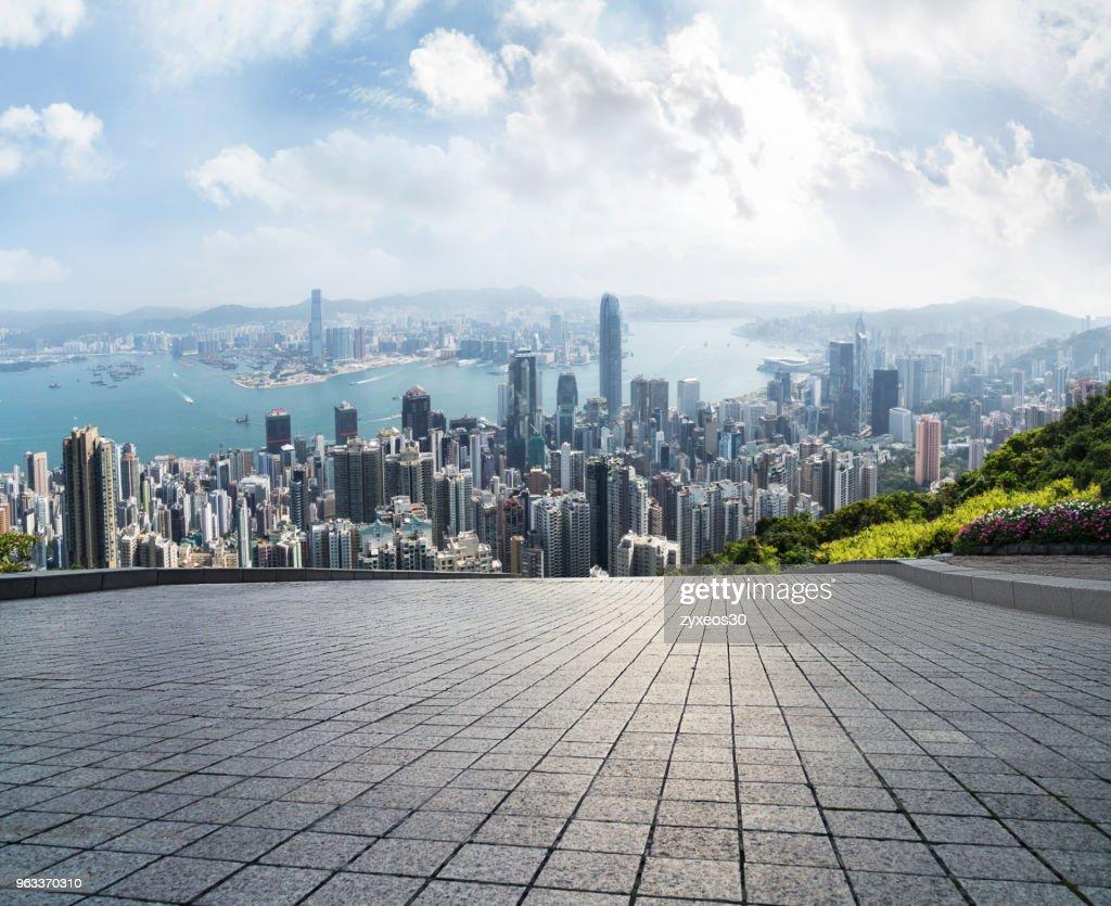 Victoria harbour,Hong Kong, : Stock Photo