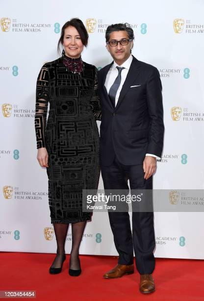 Victoria Harwood and Asif Kapadia attends the EE British Academy Film Awards 2020 Nominees' Party at Kensington Palace on February 01 2020 in London...