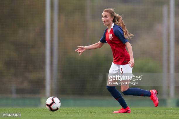 Victoria Haugen of Norway in action during the International Friendly Match between Norway U19 Women and Italy U19 Women at La Manga Club on March...