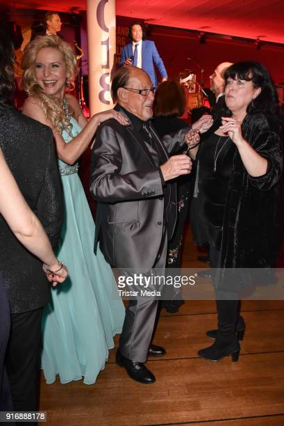Victoria Herrmann Herbert Koefer and his wife Heike Knochee during the 18th Brandenburg Ball on February 10 2018 in Potsdam Germany