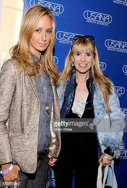 Victoria Hervey and Julia Verdin attend USANA at Kari Feinstein's Academy Awards Style Lounge at Montage Beverly Hills on February 25 2011 in Beverly...