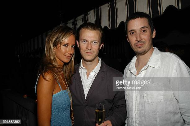 Victoria Hervey Mick Saunders and Michael Beaumont attend Champagne Reception to celebrate CHAMPAGNE PERRIER JOUËT hosted by Patricia Velasquez and...