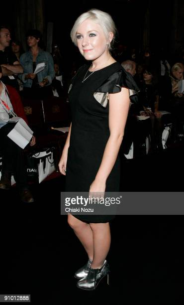 Victoria Hesketh AKA Little Boots attends the House of Holland show during the London Fashion Week Spring/Summer 2010 fashion show at the Freemason's...