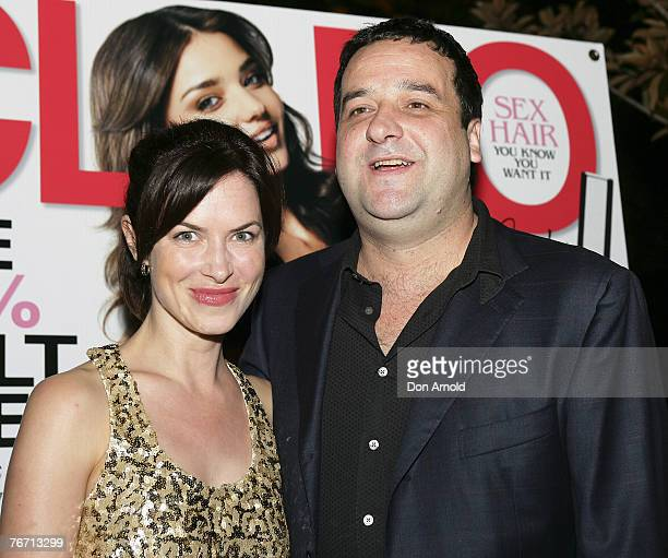 Victoria Hill and Mick Molloy attend the Cleo cocktail party at Hugo's on September 13 2007 in Sydney Australia