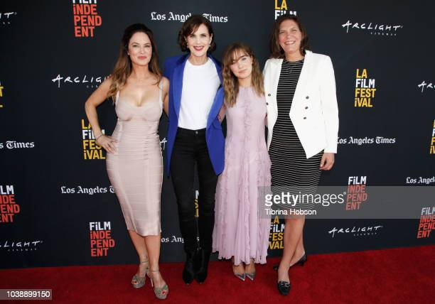 Victoria Hill Elizabeth McGovern Haley Lu Richardson Daisy PughWeiss Andrea Downing and Susanne Simpson attend the screening of 'The Chaperone'...