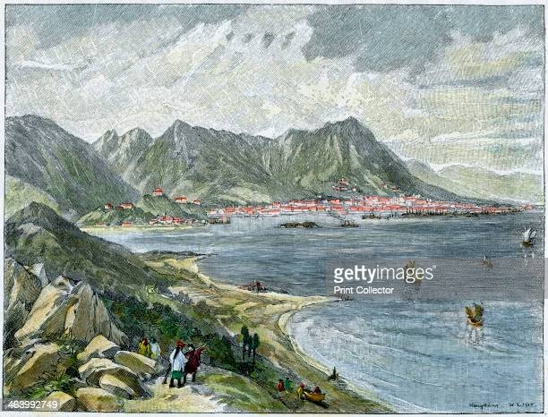 Victoria Hong Kong from the Chinese mainland c1890