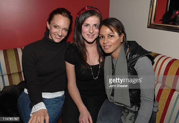 Victoria Hopper Alison Koch and Simone Bent attend the Ashlee Margolis Party Hosted by Milagro at Greenhouse on January 15 2009 in Park City Utah