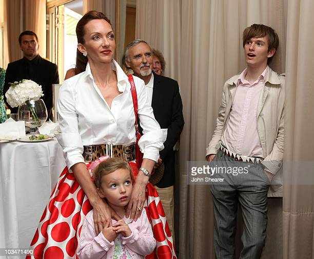 Victoria Hopper daughter Galen Grier Hopper actor Dennis Hopper and son Henry Lee Hopper attend the Maybach Family Foundation Luncheon at the Carlton...