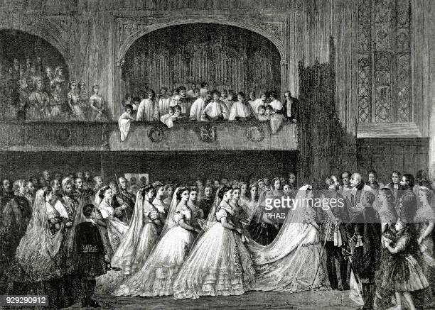 Victoria I Queen of the United Kingdom of Great Britain and Ireland and Empress of India at the wedding of her daughter Princess Helena with the...