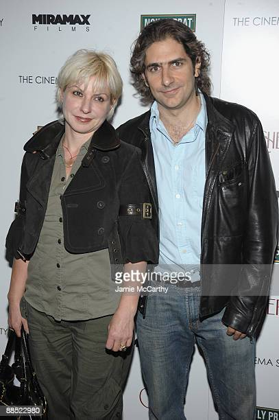 Victoria Imperioli and actor Michael Imperioli attend the Cinema Society Noilly Prat screening Of Cheri at the Directors Guild of America Theater on...