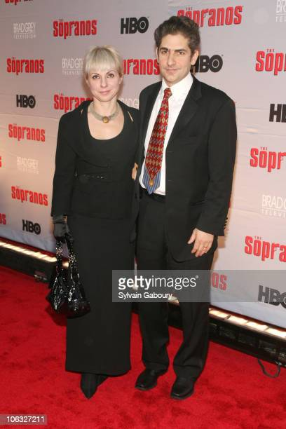 Victoria Imperioli and Michael Imperioli during The Sopranos Final Season World Premiere Arrivals at Radio City Music Hall in New York City New York...