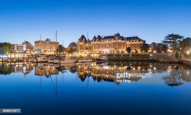 victoria inner harbor - victoria canada stock pictures, royalty-free photos & images