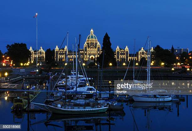 Victoria - Inner harbour at night