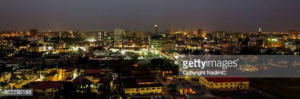 Victoria Island, Lagos, at night