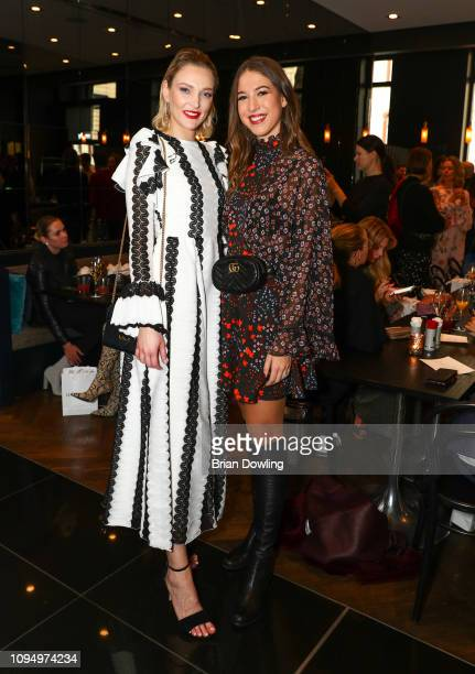 Victoria Jancke and Alana Siegel attend the Lana Mueller reception and show screening during the Berlin Fashion Week Autumn/Winter 2019 at Amano...