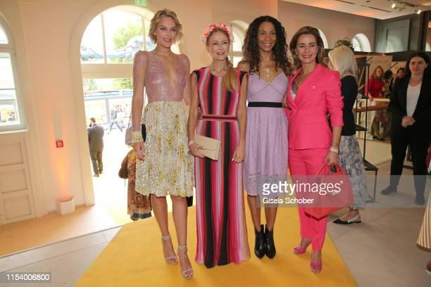 Victoria Jancke Jenny Elvers Annabelle Mandeng and Bettina Cramer at the GJ e/MS Fashion Brunch at Bertelsmann Repraesentanz on July 05 2019 in...