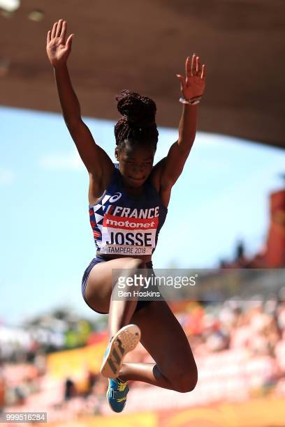 Victoria Josse of France in action during the final of the women's triple jump on day six of The IAAF World U20 Championships on July 15 2018 in...