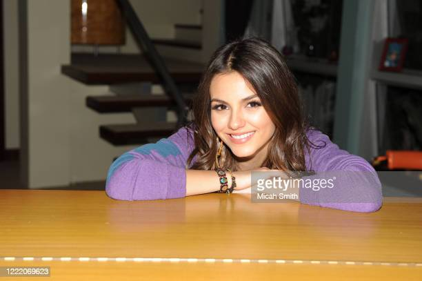Victoria Justice actor poses for a portrait on the set of Victorious in Hollywood, California on February 22, 2011.