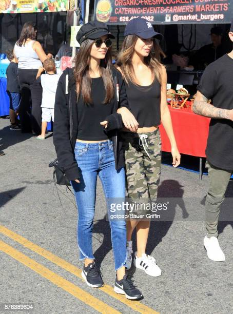 Victoria Justice and Madison Reed are seen on November 19 2017 in Los Angeles California