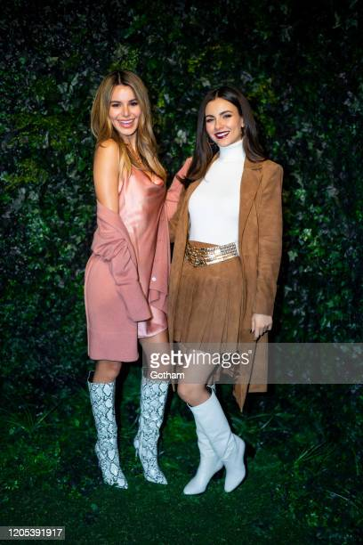 Victoria Justice and Madison Reed attend the Alice Olivia fashion show during New York Fashion Week The Shows at Highline Stages on February 10 2020...