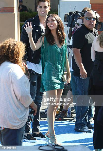 Victoria Justice and Pierson Fodv© are seen on August 16 2015 in Los Angeles California