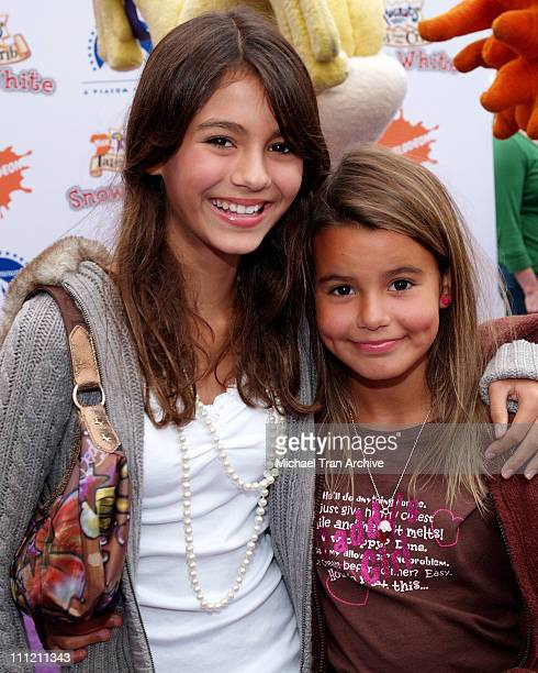 Victoria Justice and sister Madison Reed during Nickelodeon Presents Fairypalooza Premiere for 'Rugrats Tales From The Crib Snow White' Arrivals at...