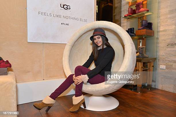 Victoria Justice and UGG Australia Launch Feels Like Nothing Else on November 7 2013 in New York City