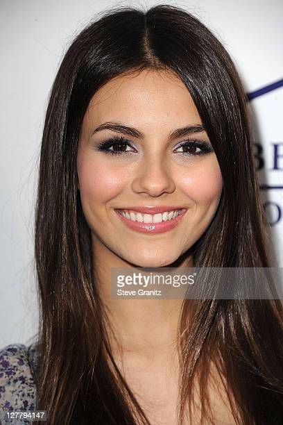 Victoria Justice arrive at the Southern Style St Bernard Project Event With Ambassador Britney Spears in Beverly Hills California