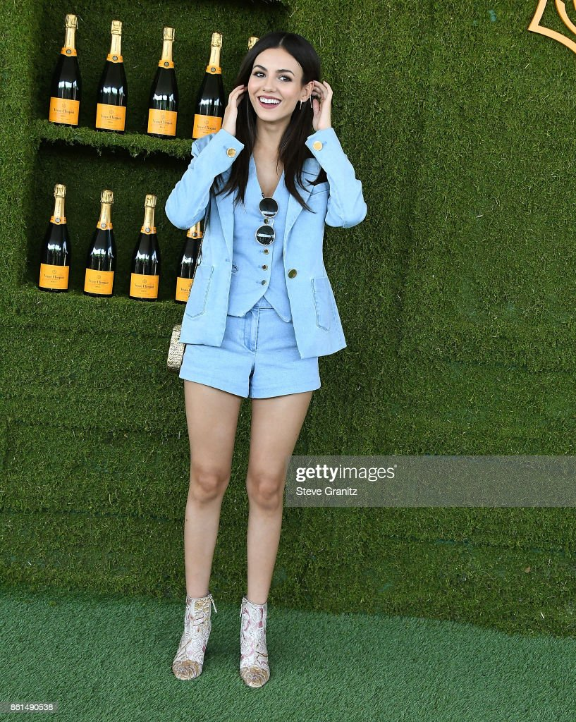 Victoria Justice arrives at the 8th Annual Veuve Clicquot Polo Classic at Will Rogers State Historic Park on October 14, 2017 in Pacific Palisades, California.
