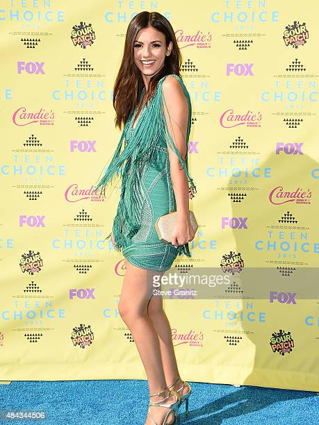 Victoria Justice arrives at the Teen Choice Awards 2015 at Galen Center on August 16 2015 in Los Angeles California