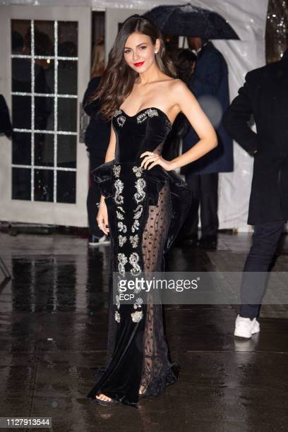 Victoria Justice at the amfAr Gala held at Cipriani Wall St on February 6 2019 in New York City