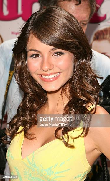 Victoria Justice at the 'Bratz' Los Angeles premiere at The Grove on July 29 2007 in Los Angeles California