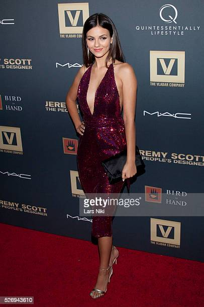 Victoria Justice attends Jeremy Scott The' People's Designer New York premiere at the Paris Theatre in New York City �� LAN