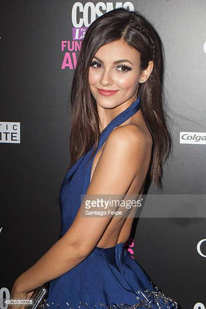 Victoria Justice attends the '2015 Fun Fearless Latina Awards' at Hearst Tower on October 13 2015 in New York City