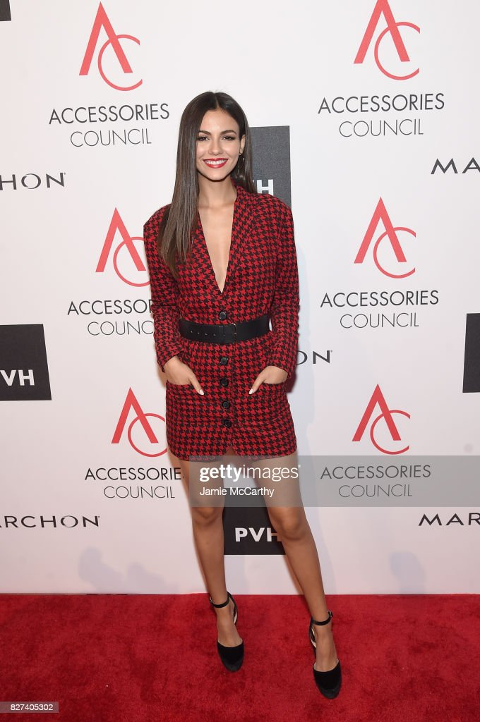 Victoria Justice attends the Accessories Council's 21st Annual celebration of the ACE awards at Cipriani 42nd Street on August 7, 2017 in New York City.