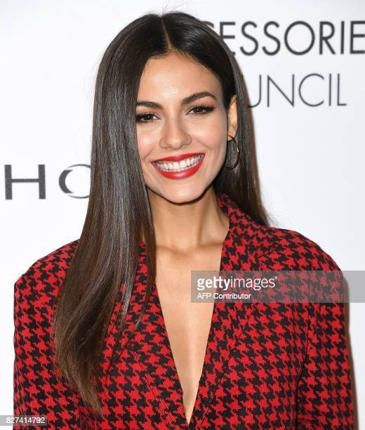 Victoria Justice attends the Accessories Council's 21st Annual celebration of the ACE awards at Cipriani 42nd Street on August 7 2017 in New York...