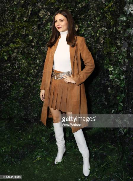 Victoria Justice attends the alice olivia by Stacey Bendet Fall 2020 presentation at Highline Stages on February 10 2020 in New York City