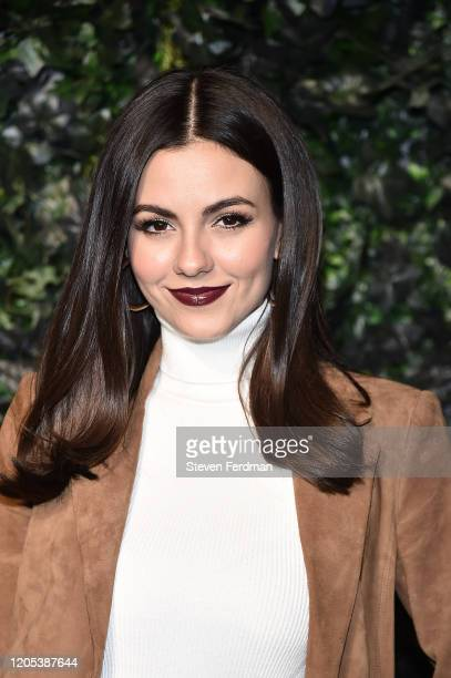 Victoria Justice attends the Alice Olivia By Stacey Bendet fashion show during February 2020 New York Fashion Week The Shows on February 10 2020 in...