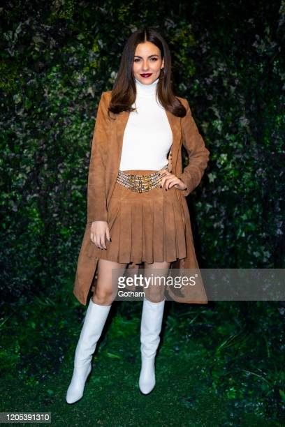 Victoria Justice attends the Alice Olivia fashion show during New York Fashion Week The Shows at Highline Stages on February 10 2020 in New York City