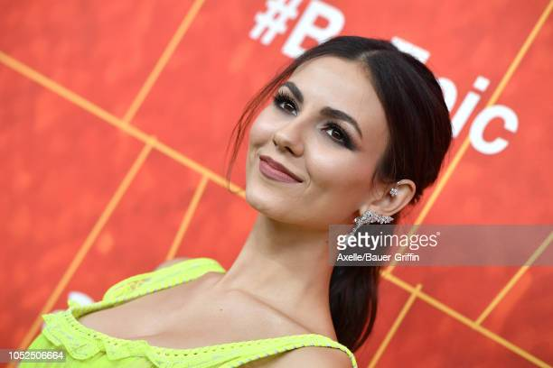 Victoria Justice attends the amfAR Gala Los Angeles 2018 at Wallis Annenberg Center for the Performing Arts on October 18 2018 in Beverly Hills...